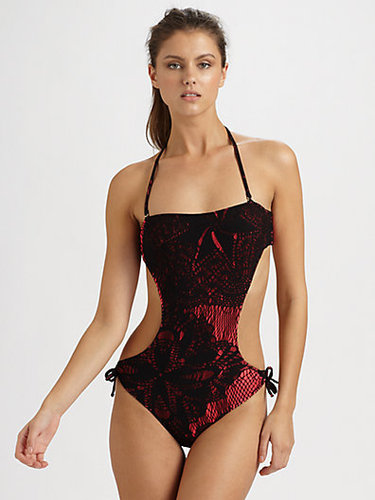 Jean Paul Gaultier One-Piece Cutout Lace Swimsuit
