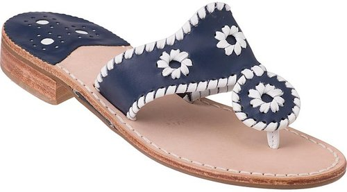 JACK ROGERS SANDALS Navajo Navy / White Trim