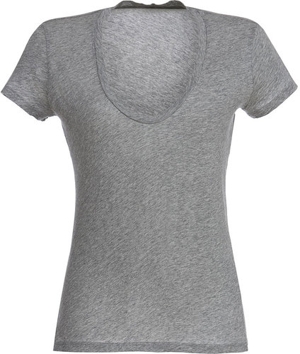 James Perse Heather Grey S/S V-neck T-Shirt