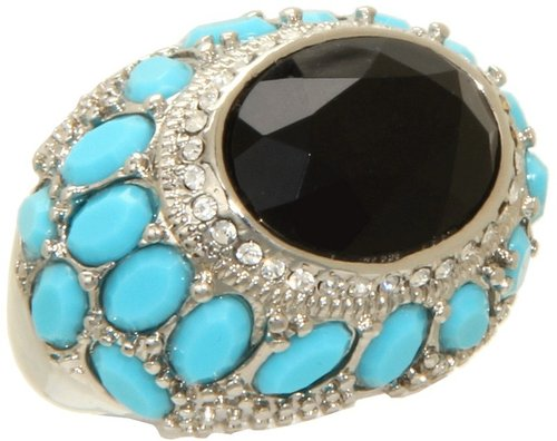 GUESS - Turquoise Jet Dome Ring