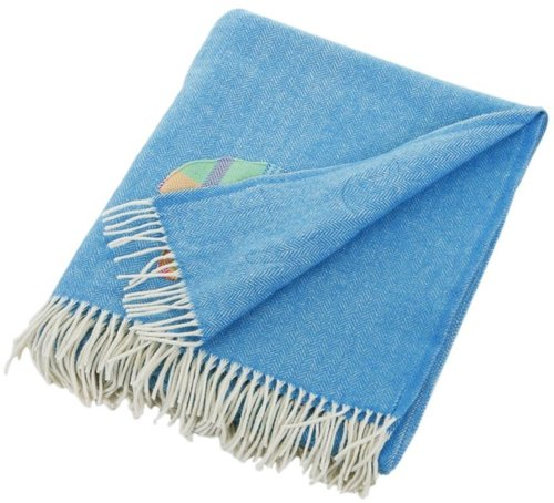 Avoca - Novelty Sheep Throw White/Blue - 183x142cm