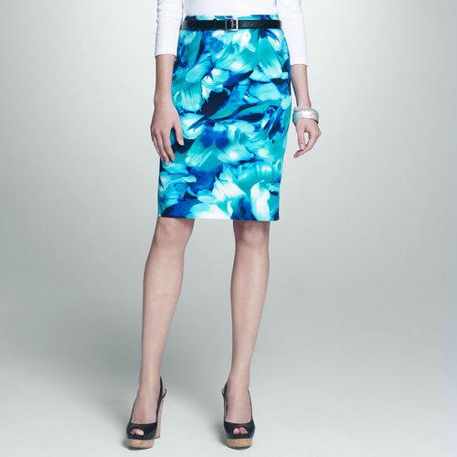 Floral Slim Skirt