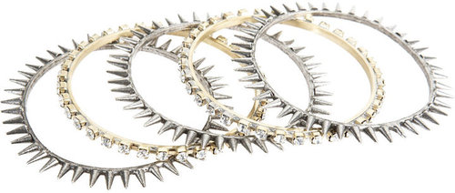 Fallon Spikes &amp; Crystal Bangles