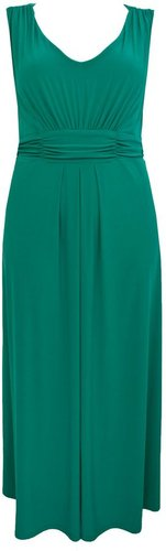 Women's Ann Harvey Green v neck jersey maxi