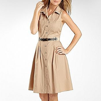 Danny & Nicole® Belted Shirt Dress
