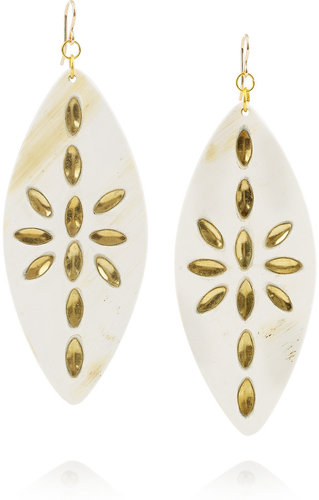 Ashley Pittman Maura embellished horn earrings