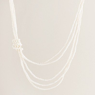 Mini knotty pearl necklace