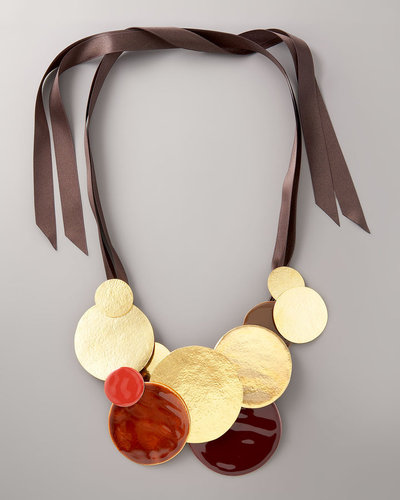 Herve Van Der Straeten Disc &amp; Ribbon Necklace
