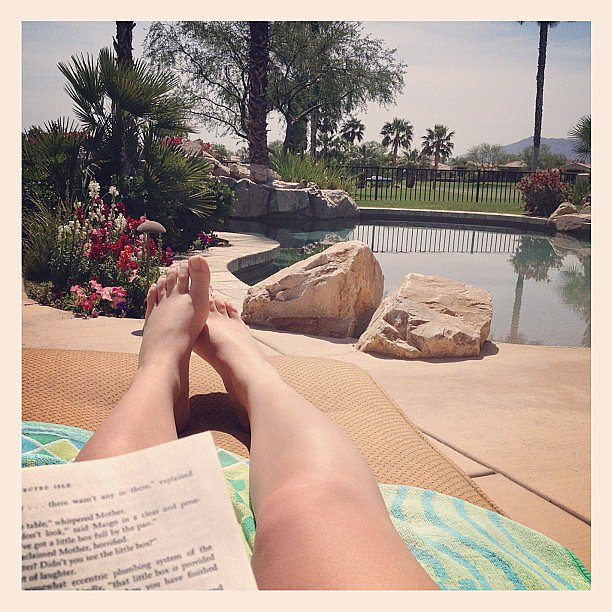 I got some much-needed R&R — reading and relaxation — taken care of in Palm Springs.