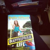 I brought Heather McDonald's My Inappropriate Life on a plane ride to LA. Really funny and entertaining!