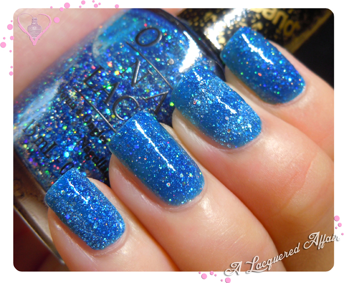 OPI Liquid Sand Get Your Number with topcoat