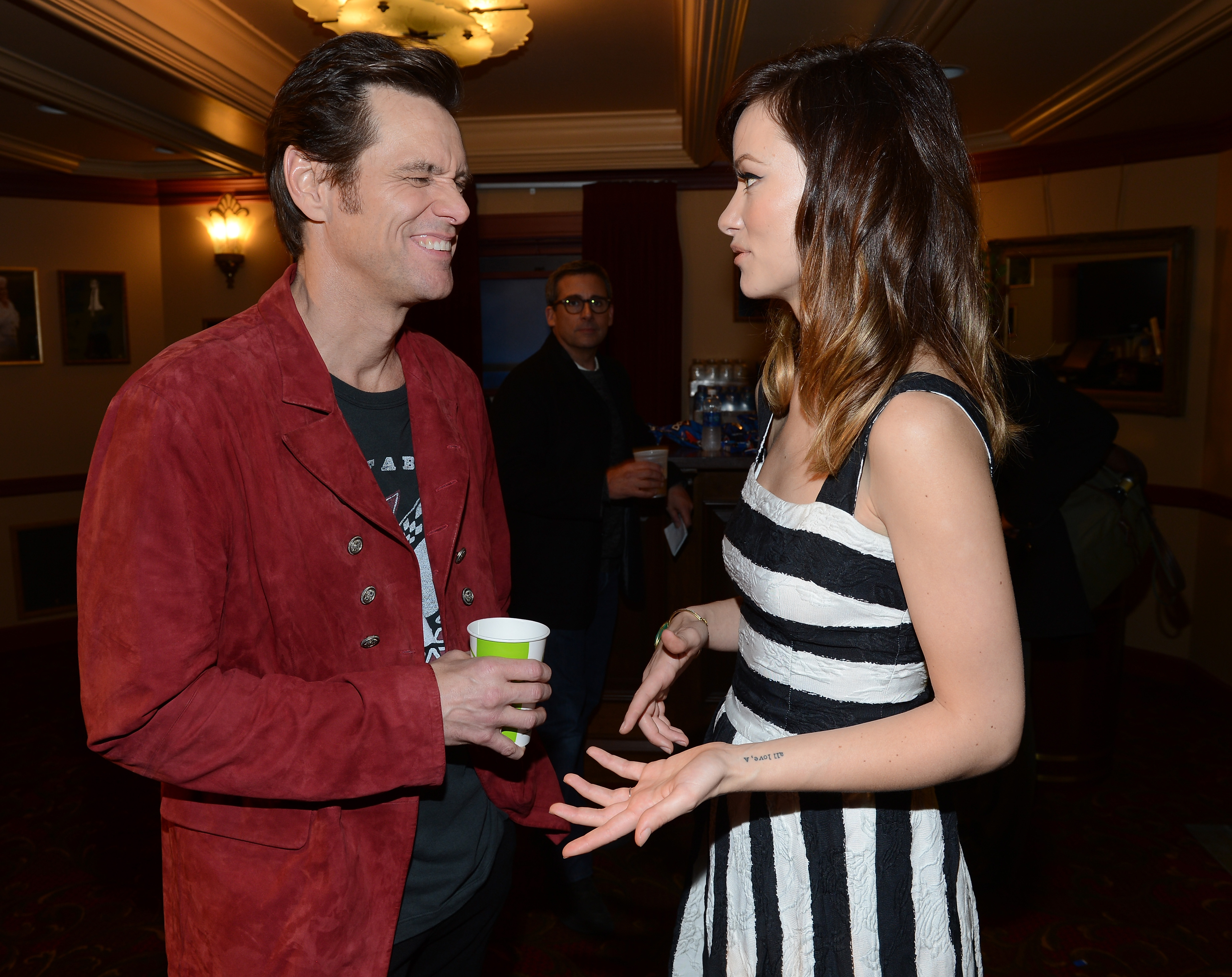 Jim Carrey and Olivia Wilde chatted at the 2013 SXSW Music, Film + Interactive Festival in Texas.
