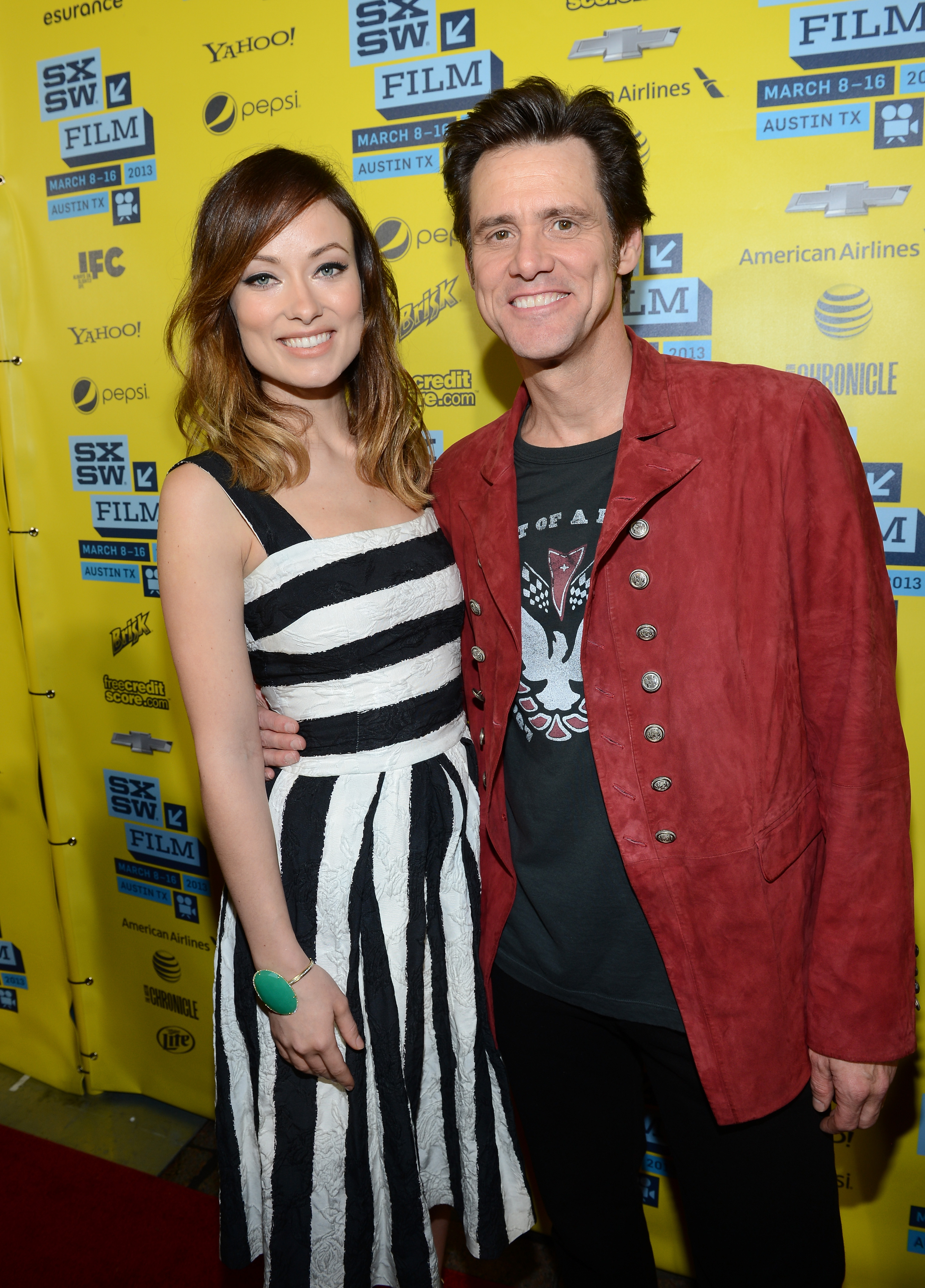 Olivia Wilde and Jim Carrey linked up at SXSW.