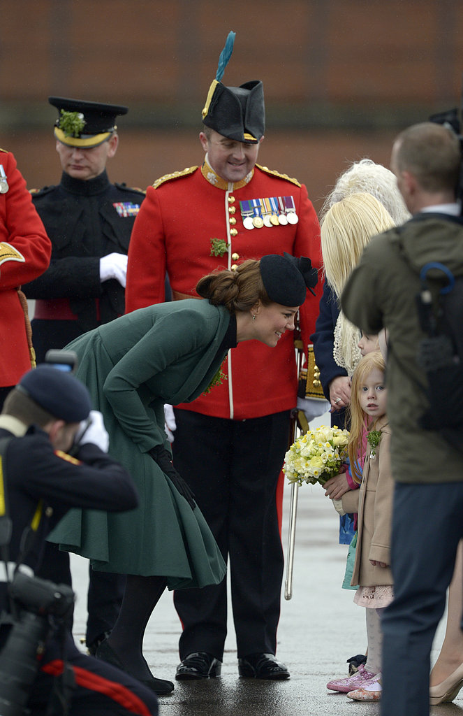Kate Middleton chatted with a little girl.