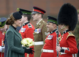 Kate Middleton met with military personnel.