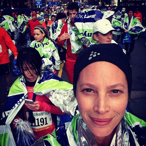 Christy Turlington ran a half-marathon in NYC on St. Patrick's Day. Source: Instagram user CTurlington