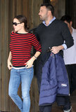 Jennifer Garner and Ben Affleck went out for lunch in Brentwood.