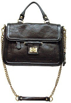 "Olivia Harris ""22722"" Black Handbag With Chain Strap"