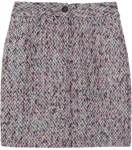 See by Chlo Park pleat-front tweed mini skirt