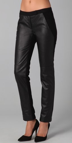 Susana Monaco Wool &amp; Leather Leggings