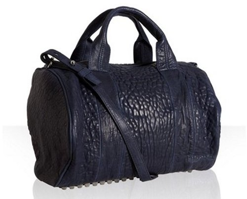 Alexander Wang midnight pebbled leather &#039;Rocco&#039; satchel