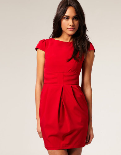 ASOS Tulip Dress with Pleat Waist