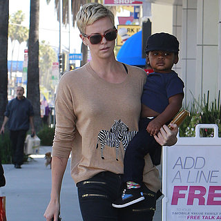 Charlize Theron and Jackson at Pinkberry in LA | Pictures