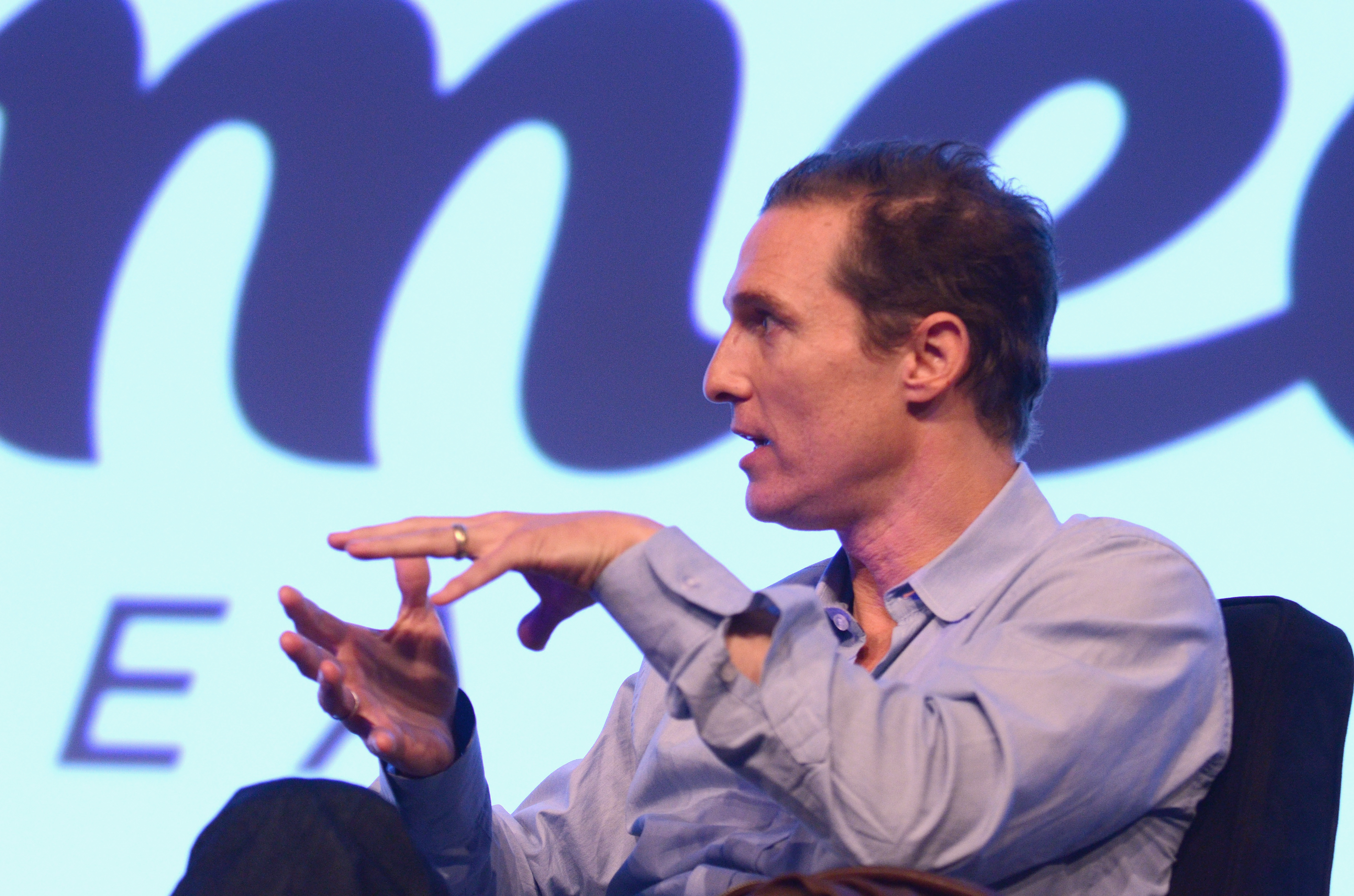 Matthew McConaughey took the stage at SXSW.