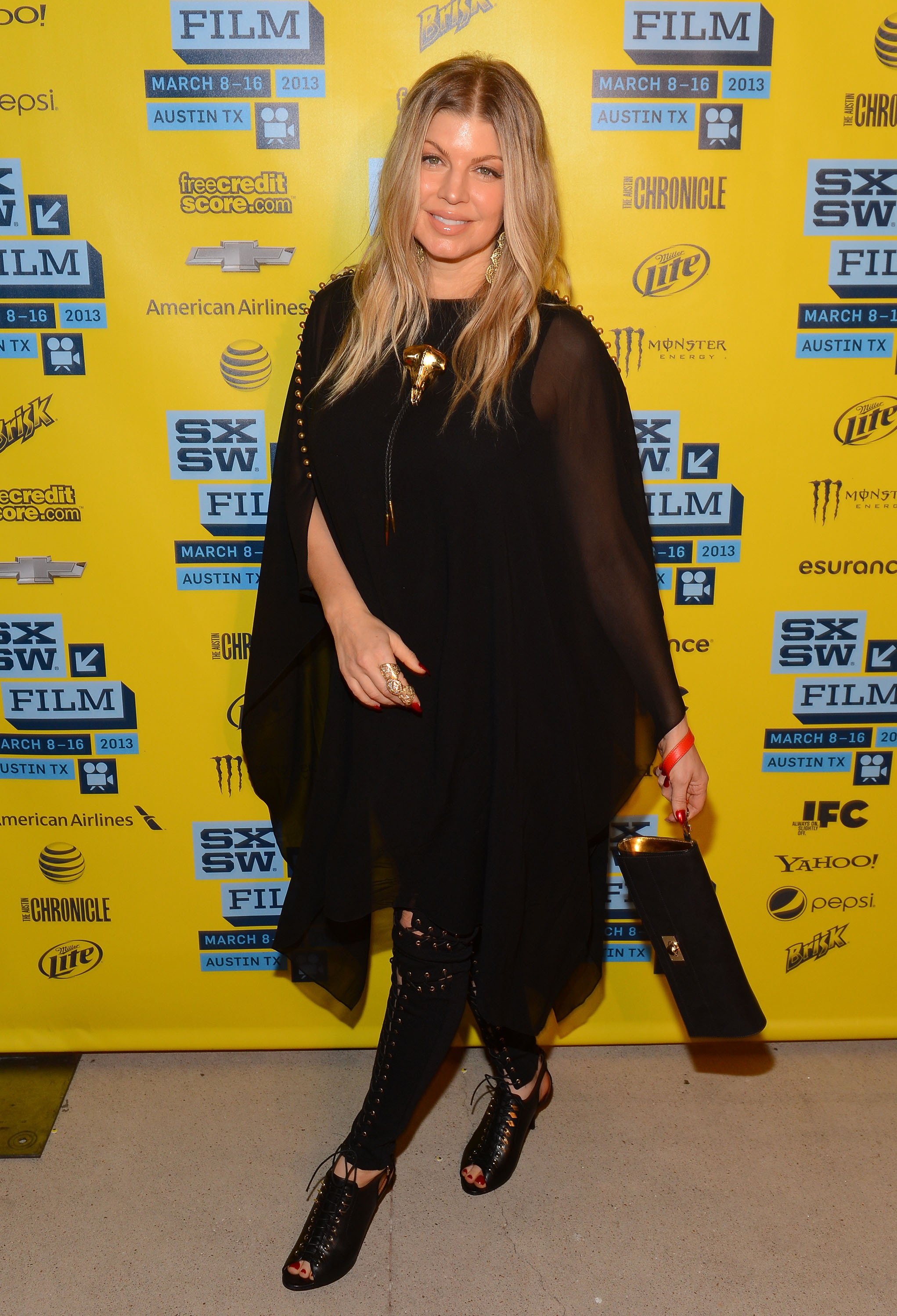 Pregnant Fergie accompanied husband Josh Duhamel for his Scenic Route screening at SXSW.