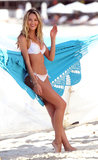 In February 2013, Candice Swanepoel modeled a bikini against a hammock in St. Barts.