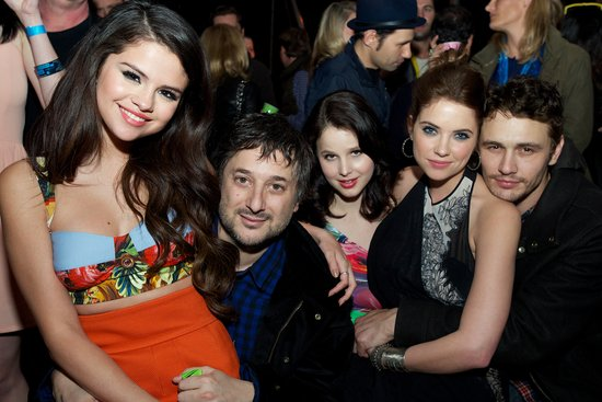 Selena Gomez, Harmony Korine, Rachel Korine, Ashley Benson and James Franco celebrated at the Spring Breakers after party at SXSW.