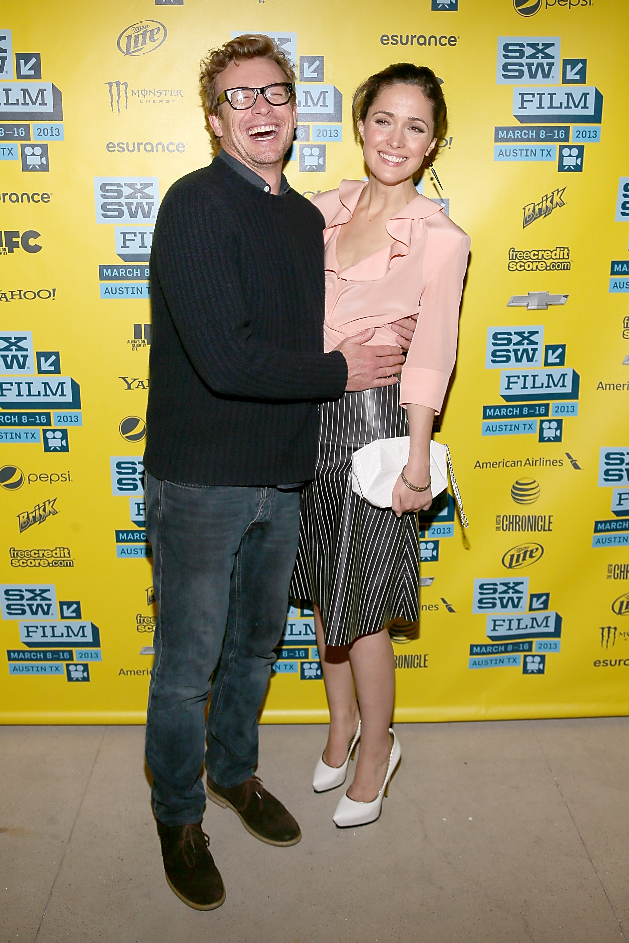 Rose Byrne and Simon Baker had a laugh at the I Give It a Year screening at SXSW.