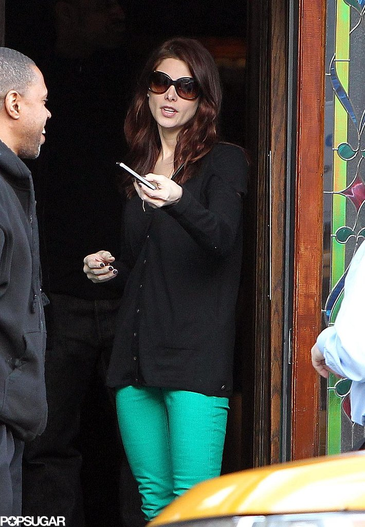 Ashley Greene got in the St. Patrick's Day spirit with bright green pants in March 2011 during a lunch date in LA.