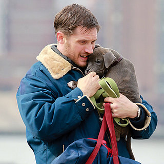 Tom Hardy With a Puppy on Set in NYC | Pictures