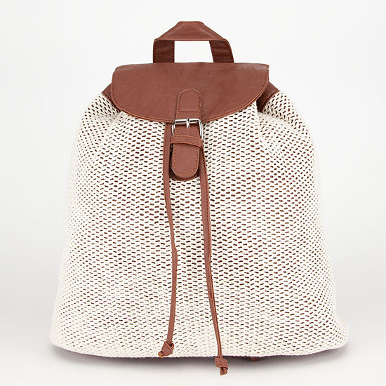 The crochet overlay on this Tilly's backpack ($35) gives it a fun bohemian look.