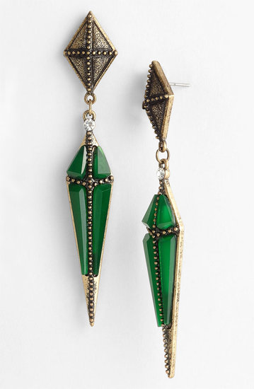 These Guinevere dagger drop earrings ($38) will add a dash of green and bling to your St. Patrick's Day style.