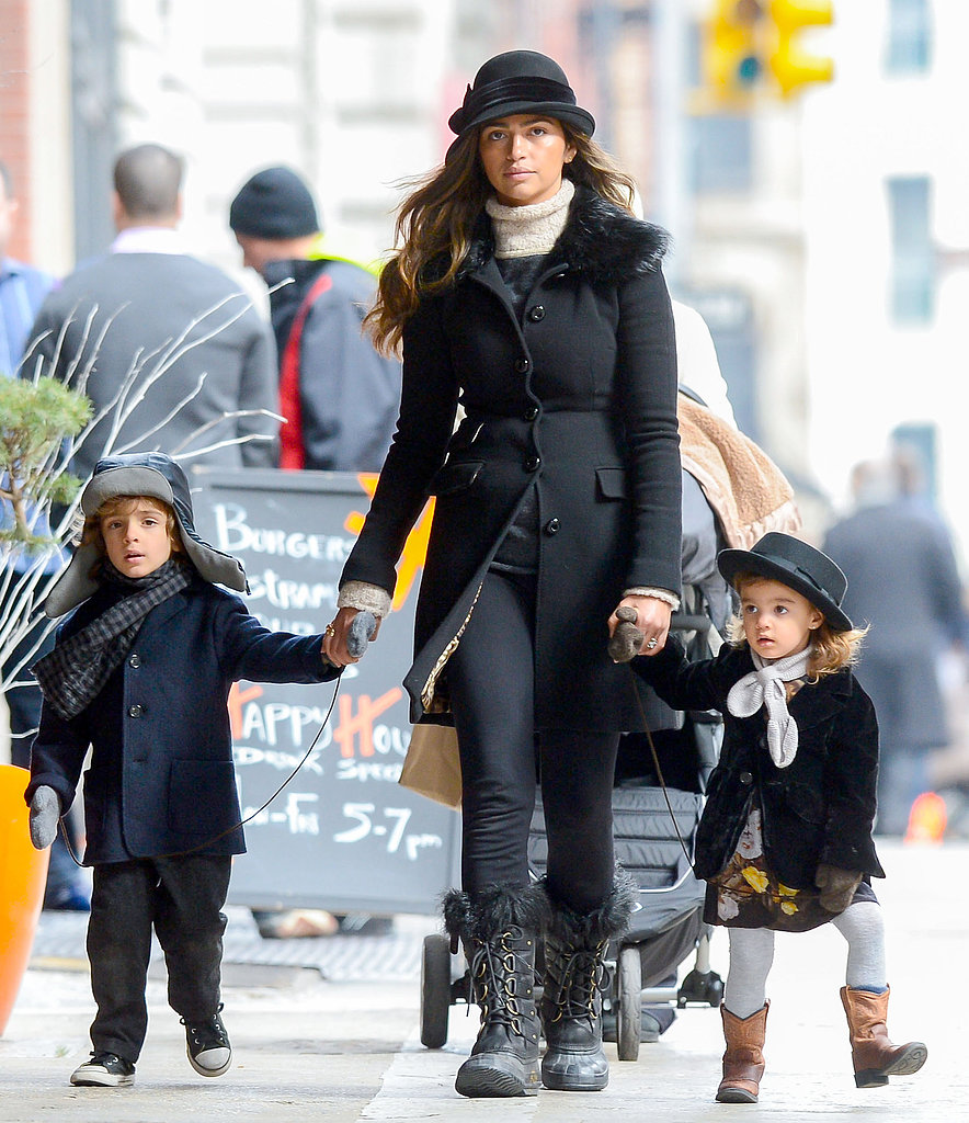 Camila Alves took her kids Levi and Vida out for an early evening stroll in NYC.