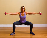 Circuit Two: Plié Squat With Lateral Arm Raises