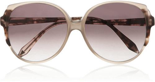 Victoria Beckham D-frame mottled acetate sunglasses