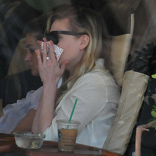 Kirsten Dunst Wears Diamond Ring | Pictures