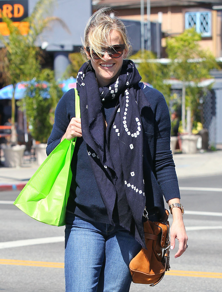 Reese Witherspoon smiled during her errand run.