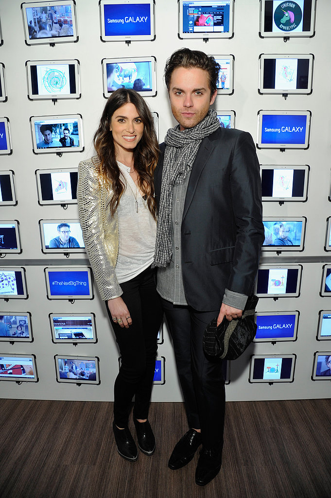Nikki Reed linked up with Thomas Dekker at the Snap cast dinner at SXSW.