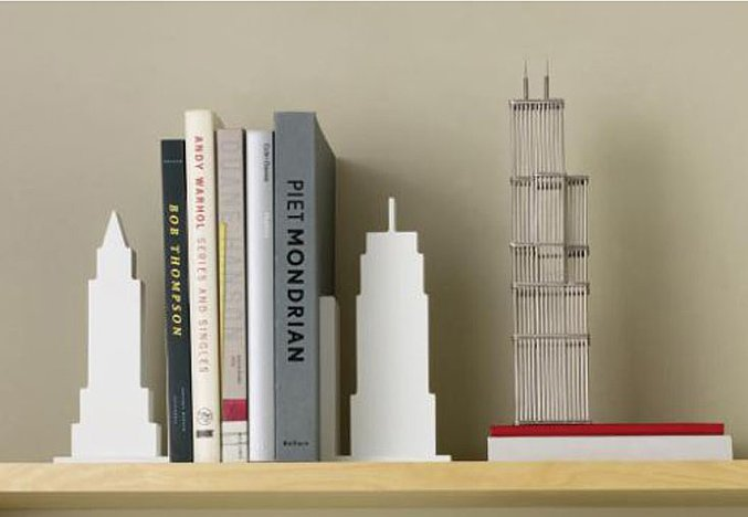 Prop up your favorite reads or magazines at your desk when you use these fun skyline bookends ($31) reminiscent of NYC.