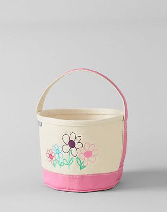 Flower Easter Basket Tote