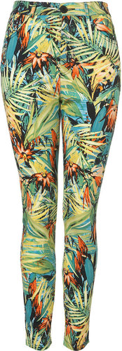 Hawaiian Floral Skinny Trousers