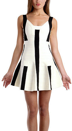 Herve Leger Avery A-Line Dress
