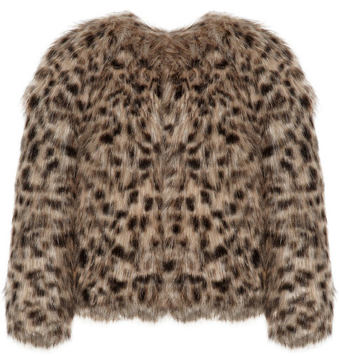 MICHAEL Michael Kors Animal-print faux fur cropped jacket