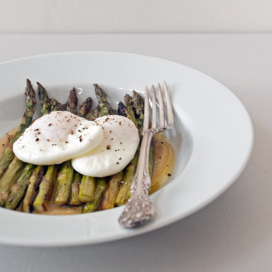 Roasted Asparagus With Miso Butter and Poached Eggs | POPSUGAR Food