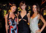 Candice Swanepoel, Karlie Kloss, and Alessandra Ambrosio posed at the Victoria's Secret party in LA.