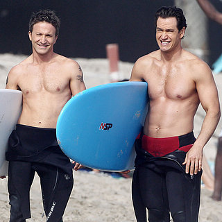 Shirtless Franklin and Bash Stars Filming in Malibu
